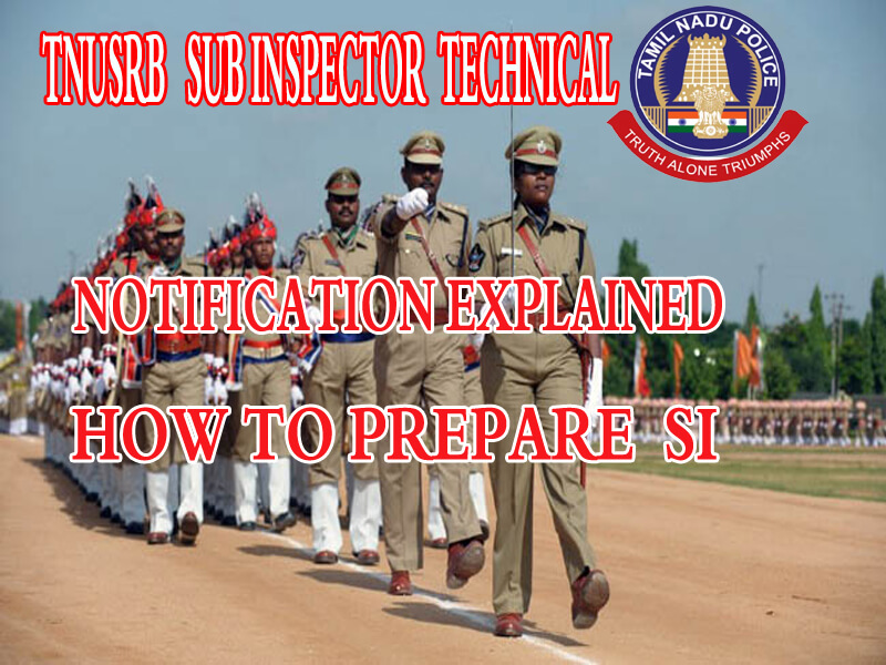 TNUSRB SUB INSPECTOR TECHNICAL|HOW TO PREPARE |SYLLABUS