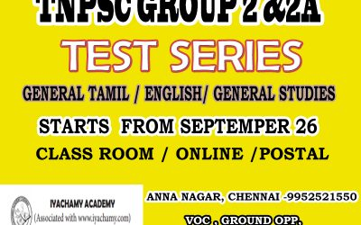 TNPSC GROUP2 | 2A| TEST SCHEDULE| IYACHAMY ACADEMY